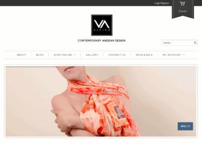 VivianHidalgo.com – Diseño andino contemporáneo